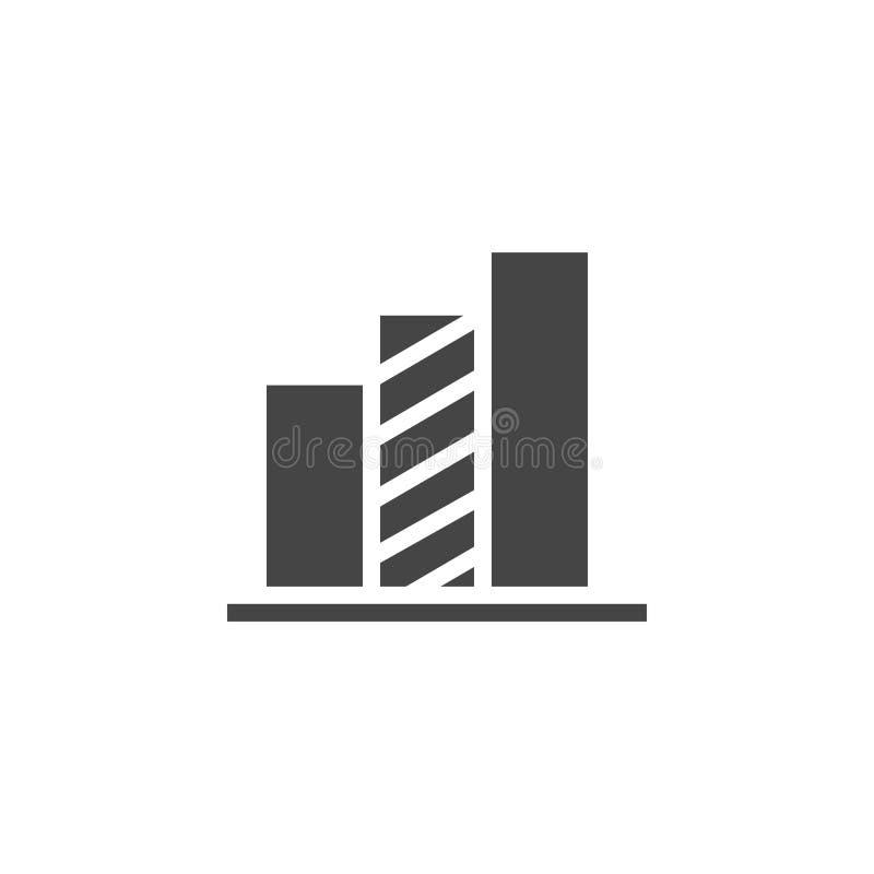 Diagramskårasymbol Infographic beståndsdel eller etikett för presentationen, affärsrapport, framstegdiagram Plan pictogram royaltyfri illustrationer