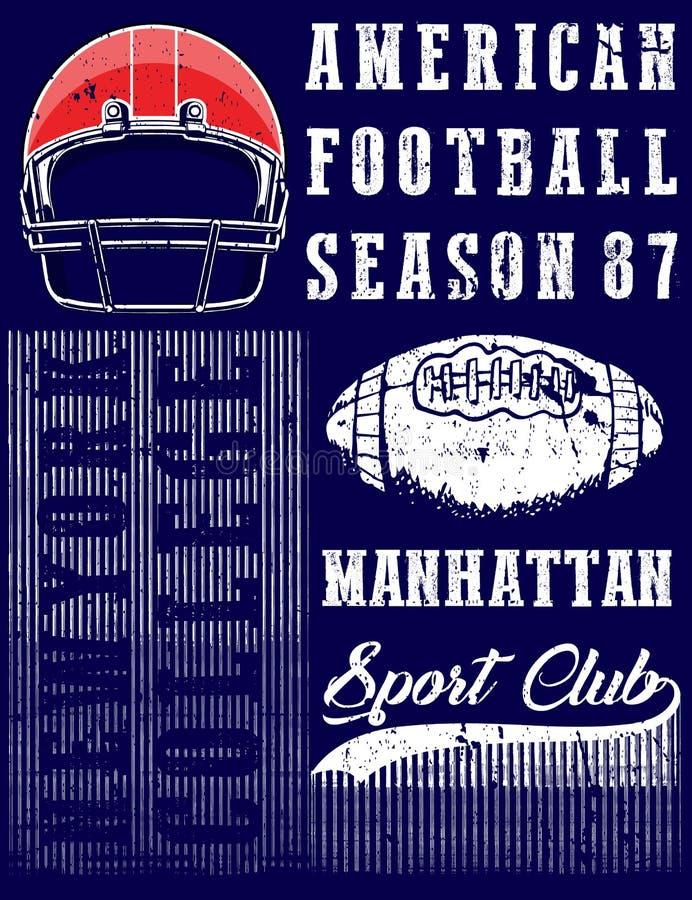 Diagramutslagsplats för amerikansk fotboll royaltyfri illustrationer