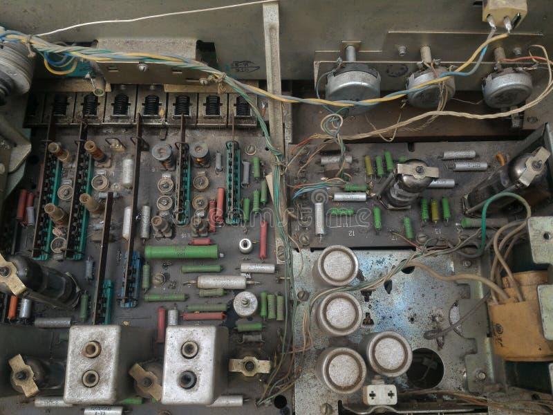 Diagramvakuumrörradio arkivfoto