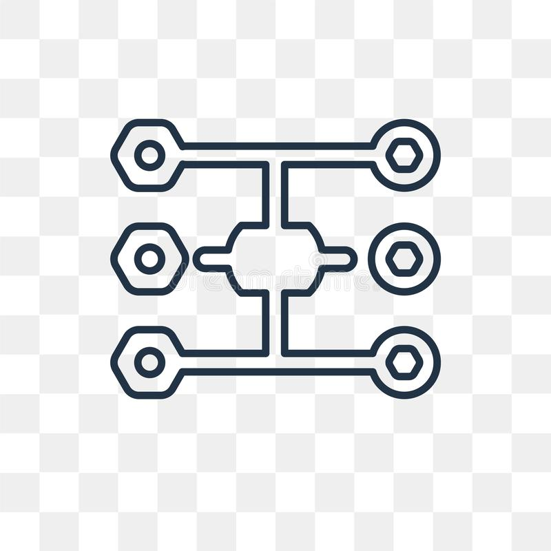 Diagramvektorsymbol som isoleras på genomskinlig bakgrund, linjärt D stock illustrationer