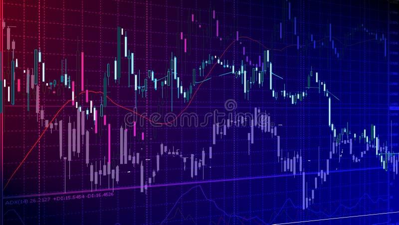 diagramy pieniężni ilustracja wektor