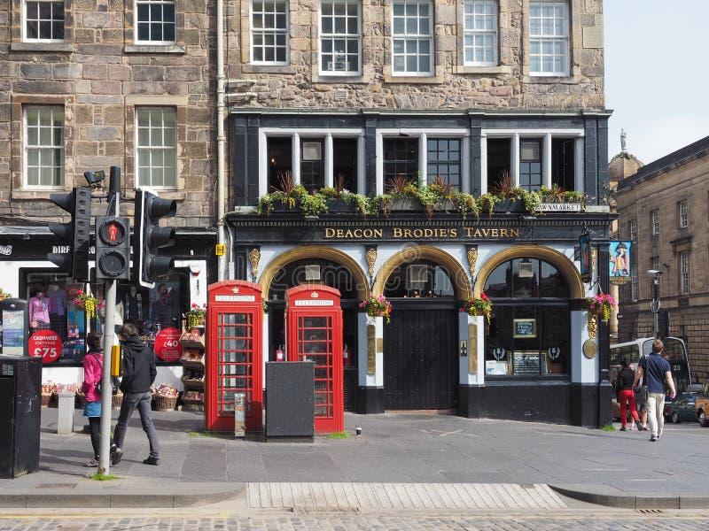 DiakonBrodies bar för krog i Edinburg royaltyfri bild