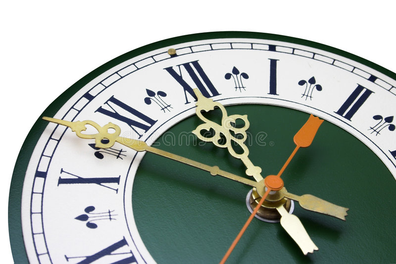 Dial of analog clock. With the Roman numerals royalty free stock photo