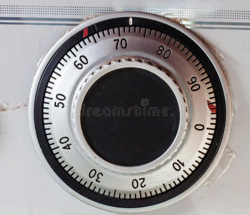 Dial combination lock on the safe royalty free stock images