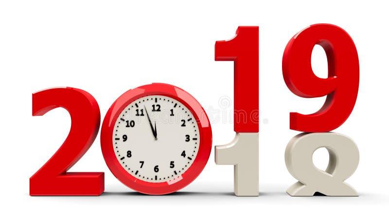 2018-2019 dial de reloj libre illustration