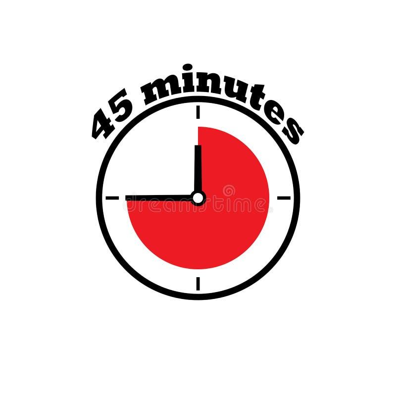 dial de reloj de 45 minutos libre illustration