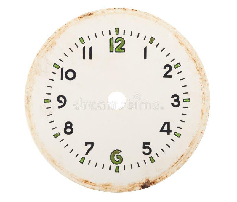 Dial de reloj en blanco fotos de archivo