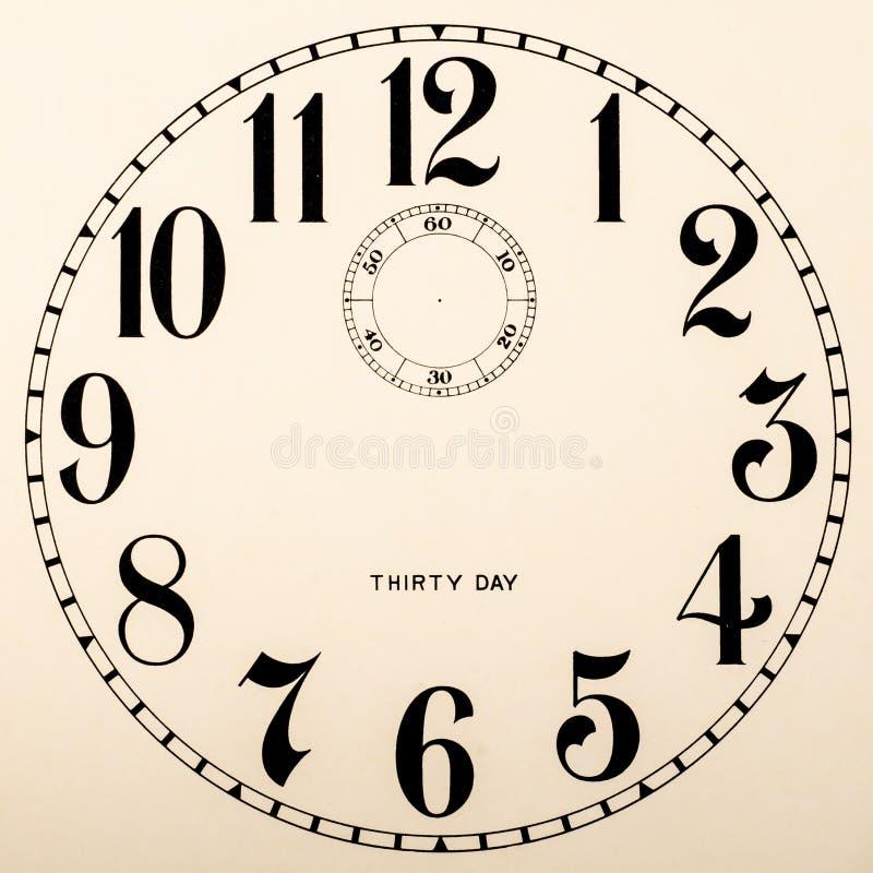 Dial de reloj en blanco - ningunas manos foto de archivo