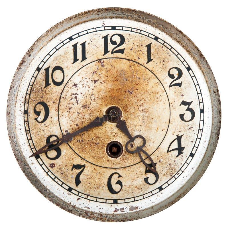 Dial de reloj viejo fotografía de archivo
