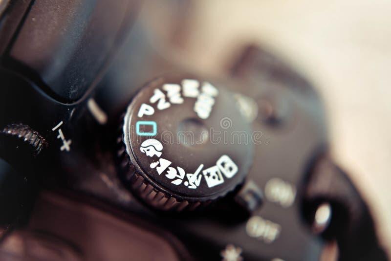 Dial del modo de la cámara imágenes de archivo libres de regalías