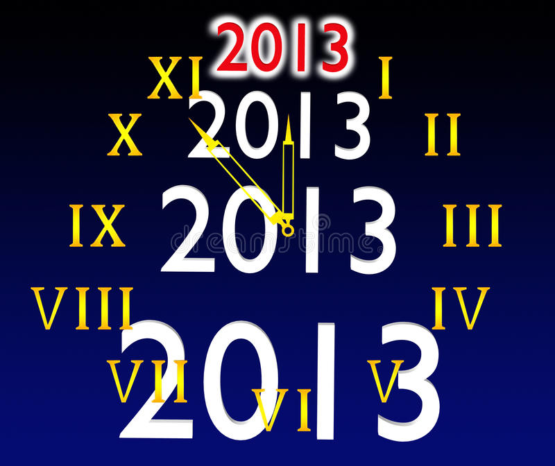 The Dial Of Hours And 2013 Royalty Free Stock Photos