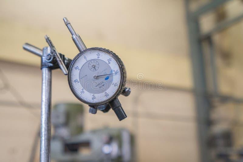 Dial indicator gauge. Close up dial indicator gauge royalty free stock photo