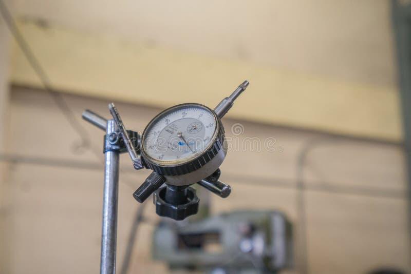 Dial indicator gauge. Close up dial indicator gauge, tools royalty free stock image