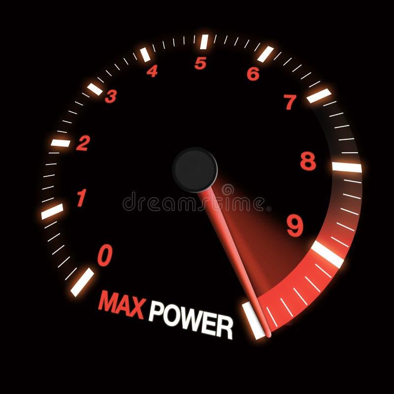 Dial máximo de la velocidad de la potencia imágenes de archivo libres de regalías
