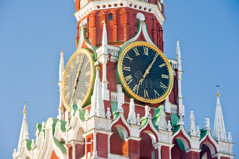 Dial The Moscow Kremlin Royalty Free Stock Images