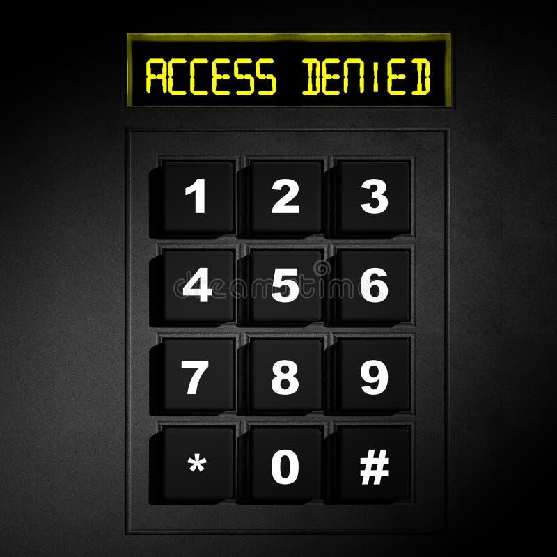 Dial numérico negro de la seguridad stock de ilustración