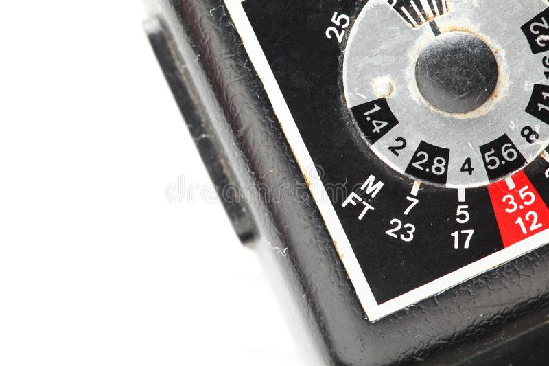 Dial number of electronic flash scene. stock images