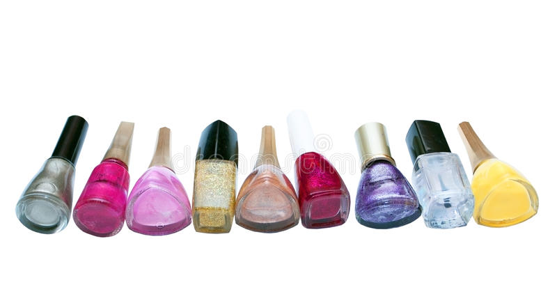 Dial-up of nail polishes stock photos