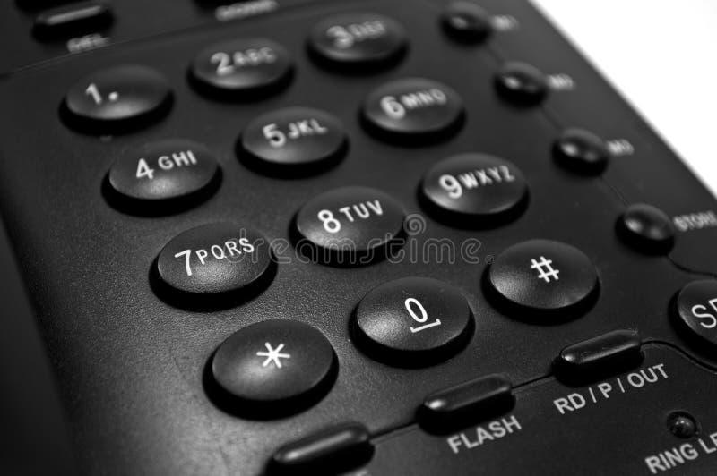 Dialer. Closeup shot of phone dialer royalty free stock photo