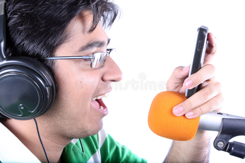 Dialer Tone Singer royalty free stock photography