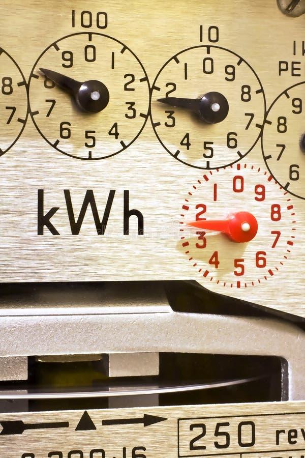 Diales del contador eléctrico imágenes de archivo libres de regalías