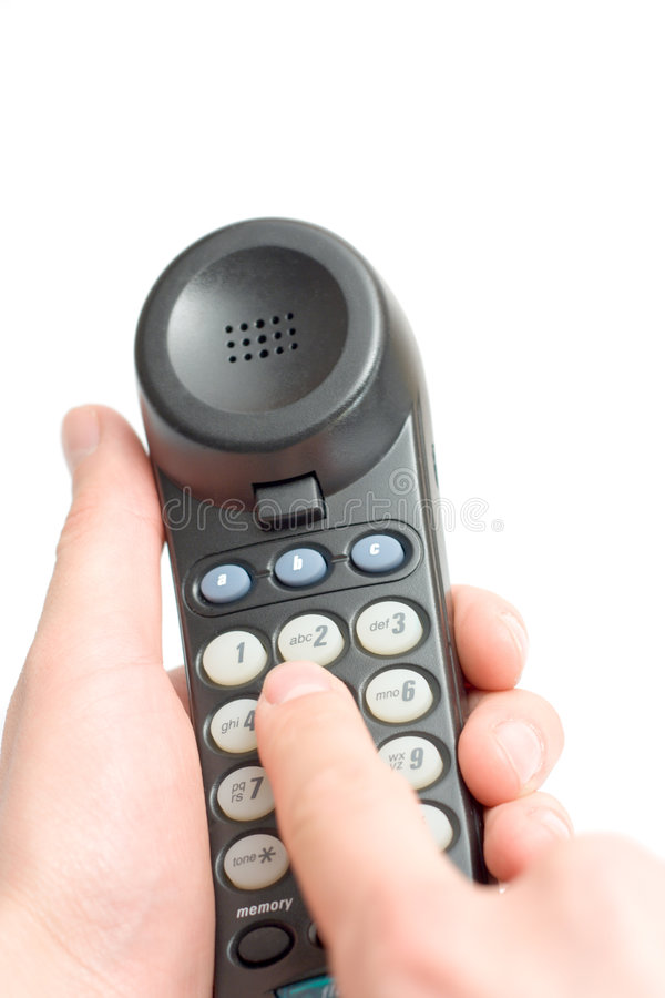 Dialing royalty free stock photo