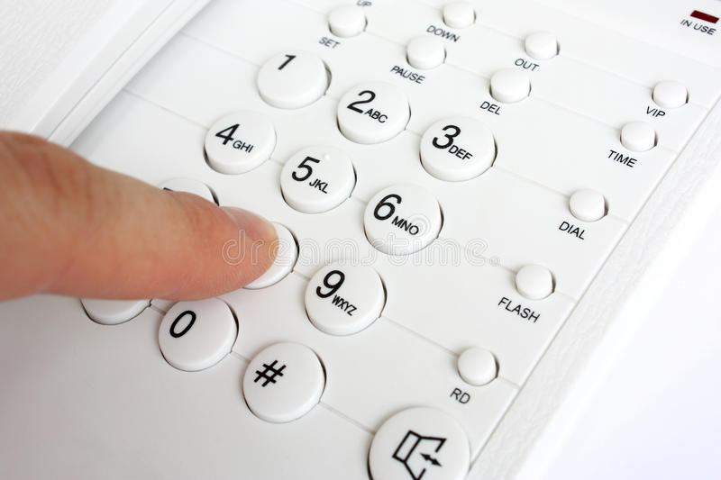 Dialing telephone number royalty free stock image