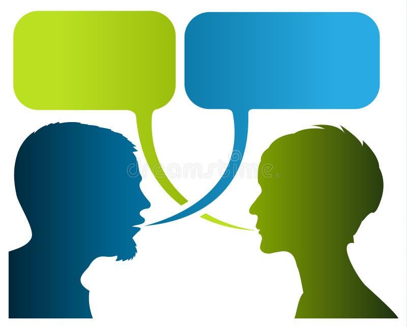 Dialog-Bildgeschichte stock abbildung