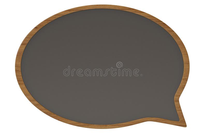 Dialog box wooden board on white background 3D illustration. royalty free illustration