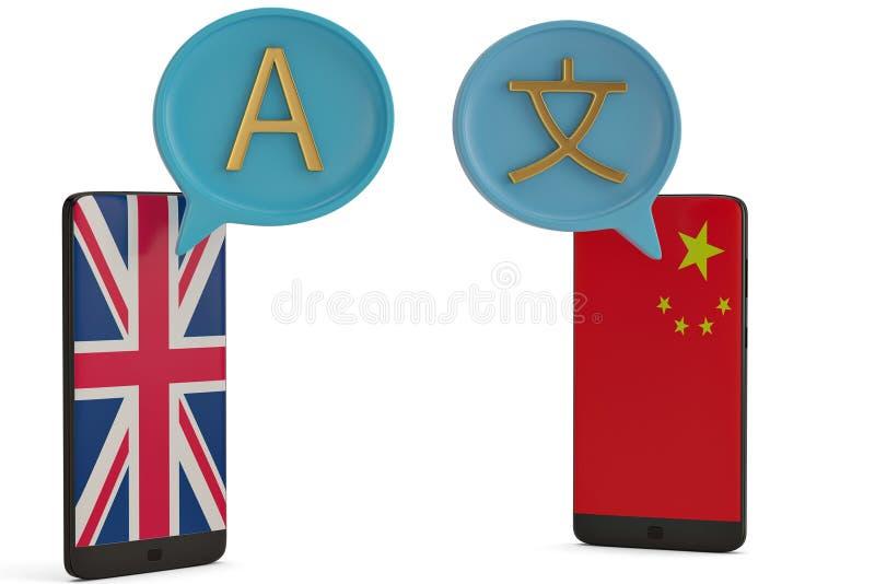 Dialog boxs and smart phone on white background 3D illustration. stock illustration