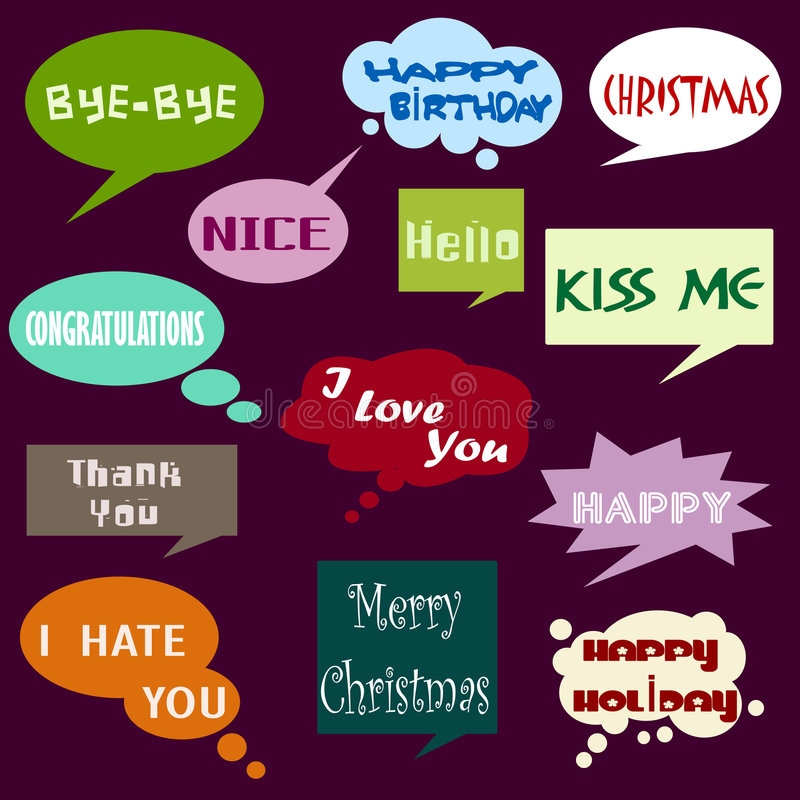 Download Dialog bubbles stock vector. Image of abstract, christmas - 8365737