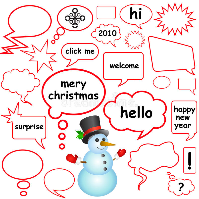 Download Dialog Bubbles (christmas Concept) Stock Photography - Image: 11955832