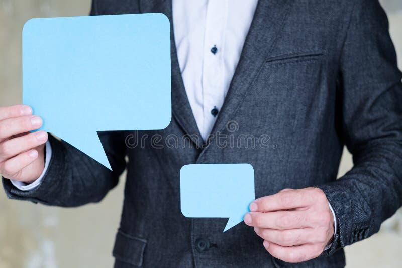 Dialog för kommunikation för anförandebubblaaffär royaltyfria foton