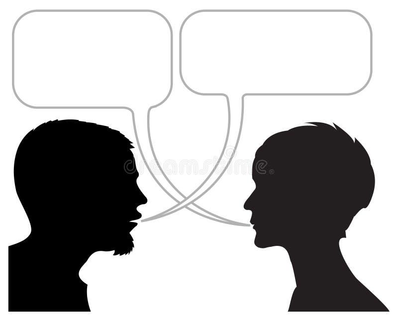dialog komiczny pasek ilustracja wektor