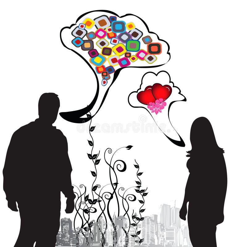 dialog poeta ilustracja wektor