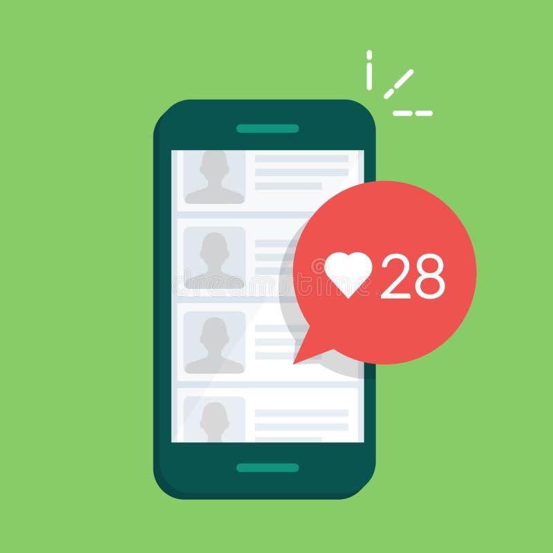 Dialog pudełko w mobilnej gadki ofiarze oceniać użytkownik wiadomość lub wiadomość Liczba podobieństwa royalty ilustracja
