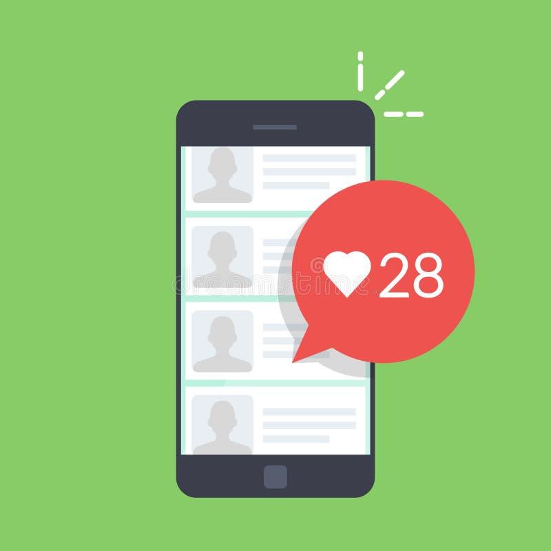 Dialog pudełko w mobilnej gadki ofiarze oceniać użytkownik wiadomość lub wiadomość Liczba podobieństwa ilustracja wektor