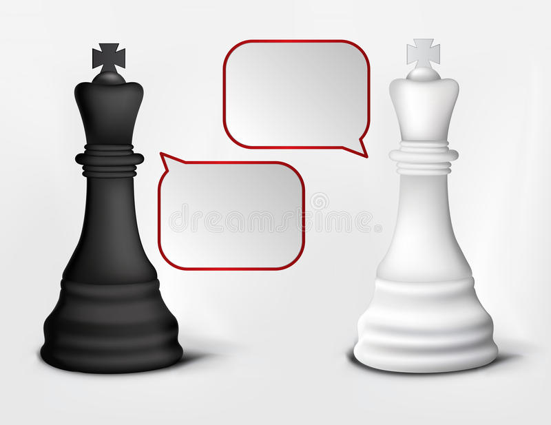 Dialog Of White And Black Kings Stock Photo