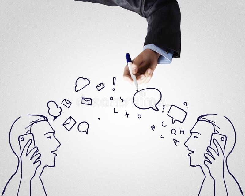 Dialog zwischen zwei lizenzfreies stockbild