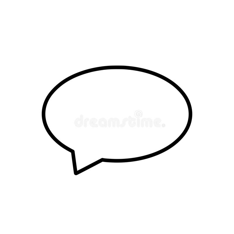 Dialogcalloutform - PNG stock illustrationer