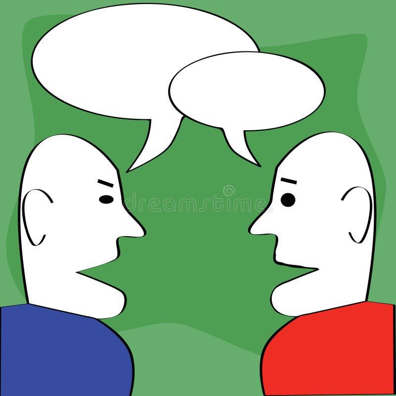 Dialogo illustrazione di stock