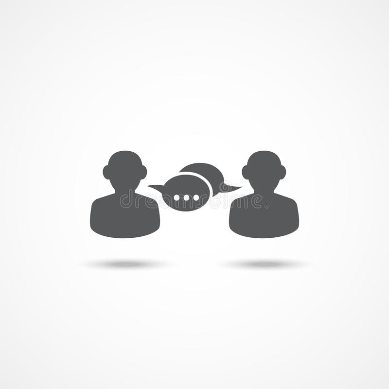 Dialogsymbol stock illustrationer