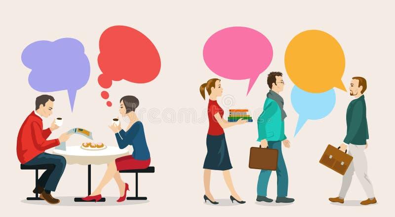 dialogue illustration de vecteur