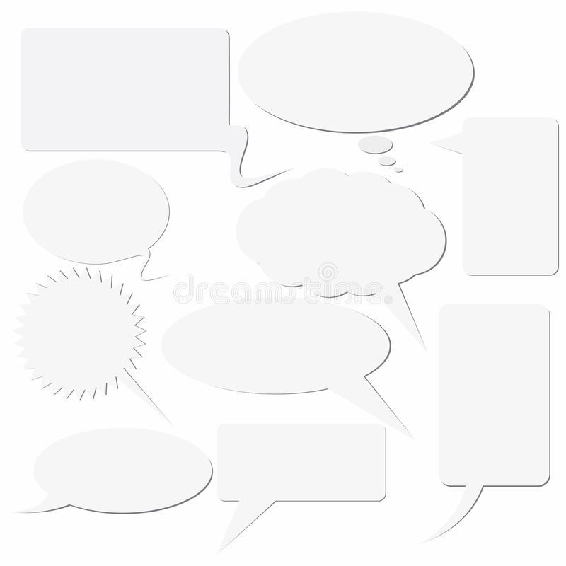 Dialogue Boxes Royalty Free Stock Images