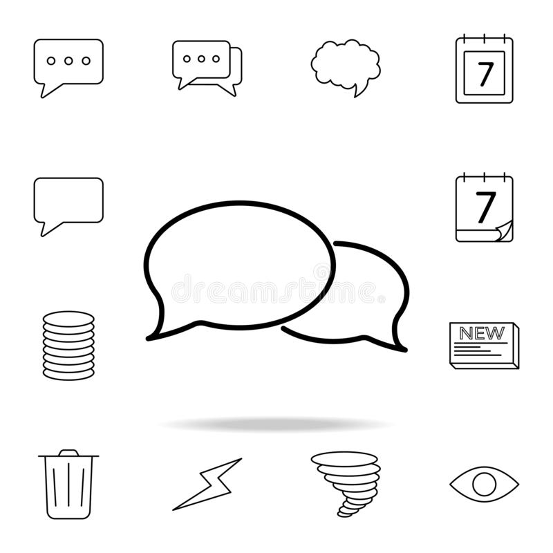 Dialogue bubble icon. Detailed set of simple icons. Premium graphic design. One of the collection icons for websites, web design,. Mobile app on white vector illustration