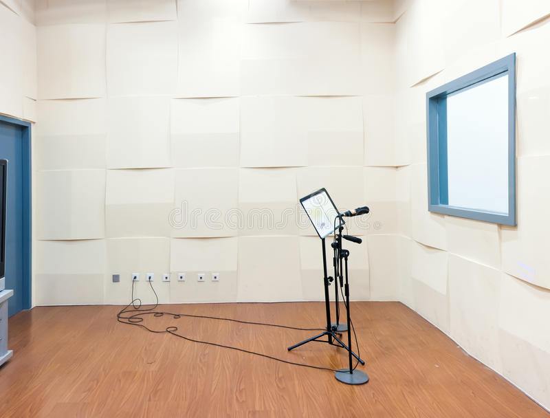 Professional Dialogue Dubbing Studio Interior