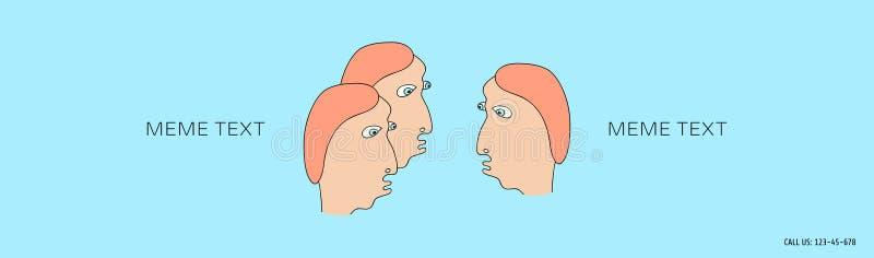 Dialogue entre trois personnes dessinées dans un style comique le groupe d'appareil-photo a isolé regarder des gens au sujet des  illustration stock