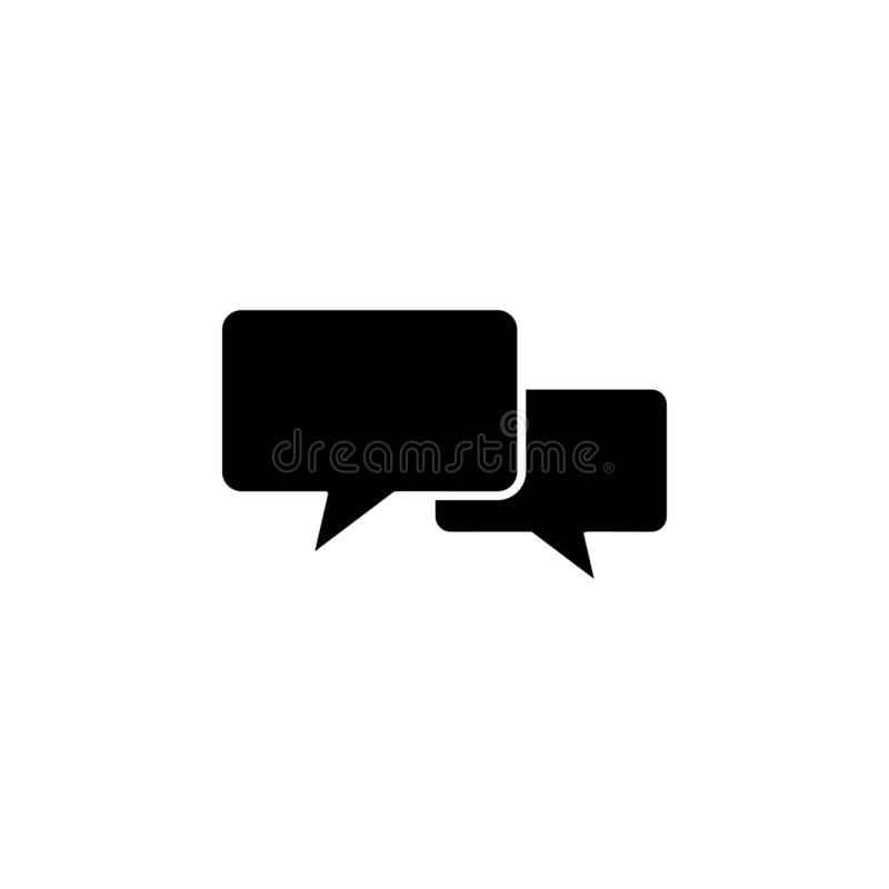 Dialogue icon. Simple glyph vector of universal set icons for UI and UX, website or mobile application. On white background vector illustration