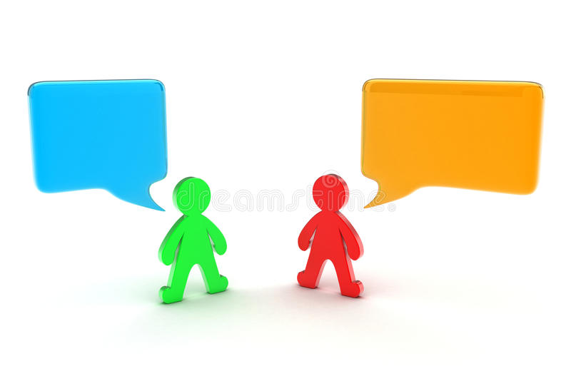 Dialogue of people stock illustration