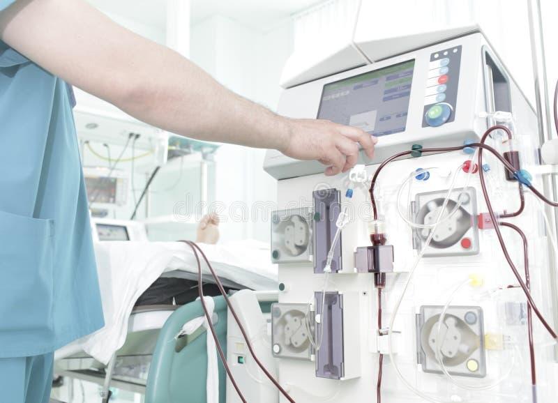 Dialyse im Krankenhaus lizenzfreies stockbild